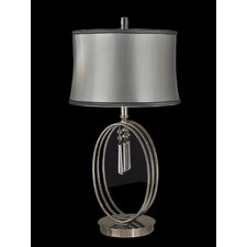 "Halo Ring 27"" H Table Lamp with Drum Shade"