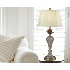"""Crystal Golden 27.8"""" H Table Lamp with Bell Shade"""