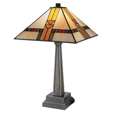 """Edmund Mission Style 20.75"""" H Table Lamp with Empire Shade"""