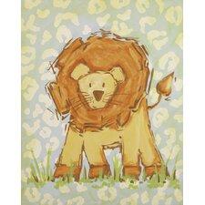 Safari Lion Blue Canvas Art