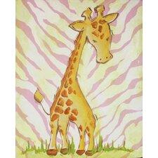 Safari Giraffe Pink Canvas Art