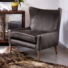 Leather Brown Marlow Wingback Chair