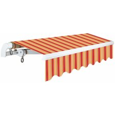 S Slim Series 10 ft. x 8 ft. Light Weight Manual Retractable Patio Awning