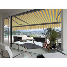 Manual Classic Semi Cassette Awning in Grey & Sunny Yellow
