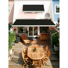 Manual Luxury Semi-Cassette Awning in Black