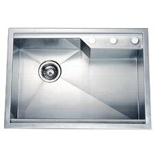 """26.38"""" x 18.88"""" Dual Mount Square Single Bowl Kitchen Sink"""