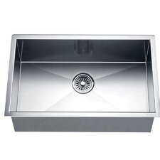 "26"" x 18"" Under Mount Square Single Bowl Kitchen Sink"