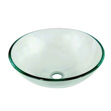 Tempered Glass Round Vessel Sink