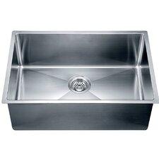 "26.5"" x 18"" Under Mount Small Corner Radius Single Bowl Kitchen Sink"