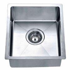 """14.88"""" x 13.31"""" Under Mount Single Bowl Kitchen Sink"""