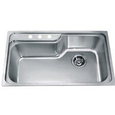"""34.5"""" x 19.88"""" Top Mount Single Bowl Kitchen Sink"""