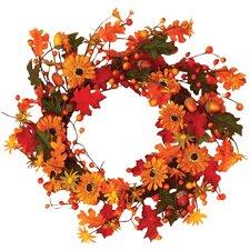 "18"" Sunflower & Acorn Wreath"