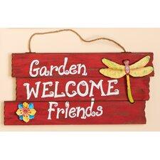 Garden, Welcome, Friends Hanging Wood Sign
