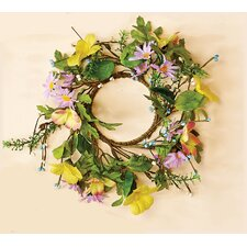 Mixed Daisy Candle Ring Centerpiece (Set of 2)