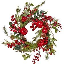 Weatherproof Berry and Apple Wreath