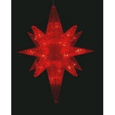 LED Lighted Twinkling 3D Bethlehem Star Hanging Christmas Decoration