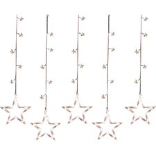 100 Light LED Star Silhouette Window Curtain Christmas Lights