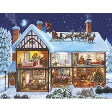 Schild Christmas House von Steve Crisp, Grafikdruck