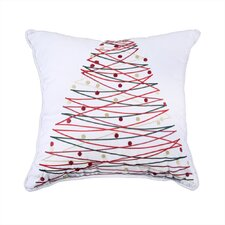 Holiday Embroidered Throw Pillow