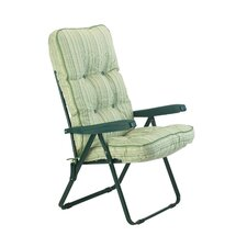 Deluxe Stripe Recliner Chair with Cushions