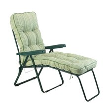 Deluxe Stripe Lounger with Cushion