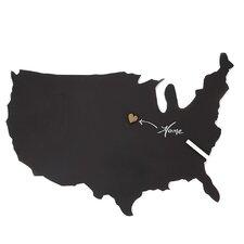 Us Map Chalkboard Wall Décor