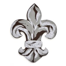 Fleur De Lis with Glitter Wall Décor