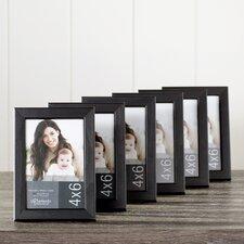 Wayfair Basics Black Desktop Picture Frame Set (Set of 6)