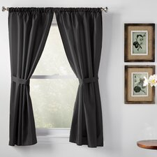 Wayfair Basics Rod Pocket Curtain Panel (Set of 2)