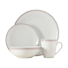 Wayfair Basics 16 Piece Striped Dinnerware Set