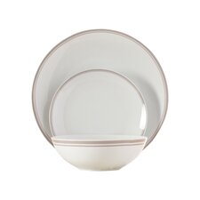 Wayfair Basics 12 Piece Striped Dinnerware Set