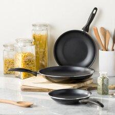Wayfair Basics 3 Piece Non-Stick Frying Pan Set