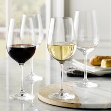 Wayfair Basics 12 Piece White Wine & Red Wine Glass Set