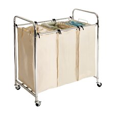 Wayfair Basics 3 Bag Laundry-Sorting Cart