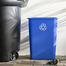 Wayfair Basics 10.25 Gallon Recycling Bin