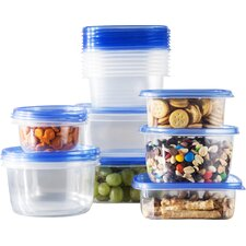 Wayfair Basics 34 Piece Plastic Food Storage Container Set