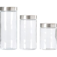 Wayfair Basics 4 Piece Glass Canister Set