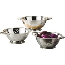 Wayfair Basics 3 Piece Stainless Steel Colander Set
