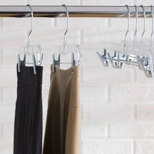 Wayfair Basics Clear Plastic Skirt Hanger Set (Set of 12)