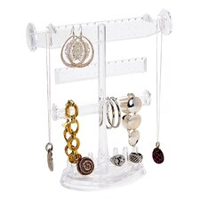 Wayfair Basics Plastic 3 Tier Jewelry Holder with Ring and Base Organizer