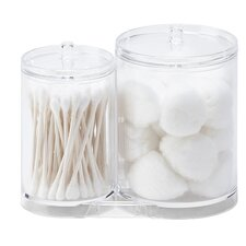 Wayfair Basics Plastic Acrylic Cotton Ball and Swab Holder