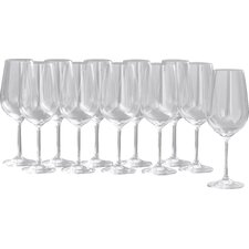 Wayfair Basics 12 Piece White Wine & Red Wine Glass Set