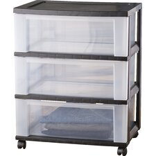 Wayfair Basics Wide 3-Drawer Storage Cart