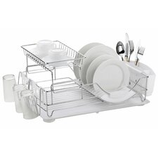 Wayfair Basics 2 Tier Deluxe Dish Drainer
