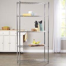 """Wayfair Basics 72"""" H 5 Shelf Shelving Unit"""