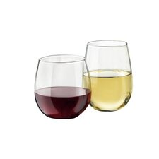 Wayfair Basics 12 Piece Stemless Wine Glass Set