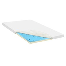 Gel Infused High Density Foam Mattress Topper with Removable Cover