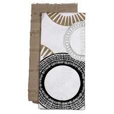 Serendipity/Sprial 2 Piece Towel Set
