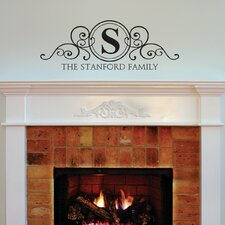stanford family monogram design wall decal
