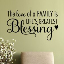 The Love of A Family Wall Decal